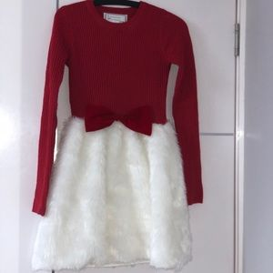 Holiday fuzzy dress